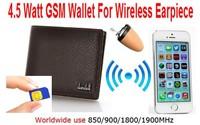 Free Shipping New 4.5 W GSM Wallet for Hidden In Ear Audio Receiver wireless earpiece Kit