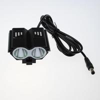 [Black]Exalttrade 2xCree XM-L U2 LED 4-Mode 2000LM Bicycle Light/ Head Light (4*18650)