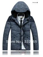 2013 New Brand 90% Duck Down New Design Men's Warm Down Jacket Winter, Outdoor Coat,Denim  Color Jackets For men  0972-4