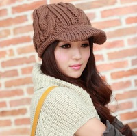 Free Shipping Winter Knitting Wool Hat for Women Caps Lady Knitted Hats Beanie Caps Korean Fashion Knit Cap