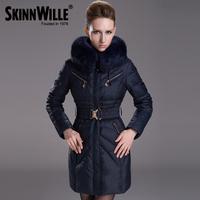 2013 winter medium-long fashion large fur collar thickening down coat female 7160
