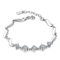 925 pure silver bracelet female silver bracelet fashion lovers gifts girlfriend birthday gift