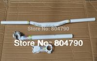 MTB Bike Bicycle handlebars & Stem & Seatpost 27.2mm Set white New- 30.4mm/30.8mm/31.6mm seatpost avaible