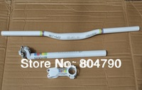 MTB Bike Bicycle handlebars & Stem & Seatpost 27.2mm Set white New- 30.4mm/30.8mm/31.6mm seatpost avaible