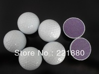 Free shipping Wholesale New Design 12pcs/dozen Two Layer Golf Tournament Ball With White 2 Piece Match Golf Balls