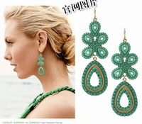 Freeshipping(Min order $10)Dancing butterfly foreign trade hollow out flowers tassel earrings eardrop aura  C5050