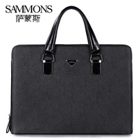 Genuine leather man's bag first layer of cowhide handbag commercial laptop bags briefcase