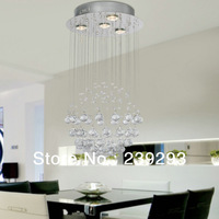 Free Shipping Indoor Modern Crystal Pendant Light In Globe Shape With Crystal Drop 4 Lights GU10 Bulbs Included 110-240V