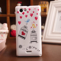Birdcage Cartoon New Painted High Quality Fashion Design Gel COVER SKIN PROTECTOR Back TPU Silicon CASE For Sony Xperia J St26i
