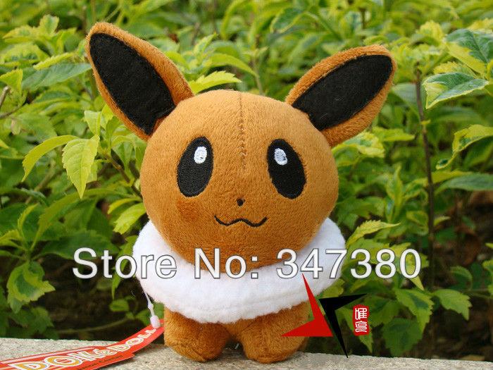 "Hot Sale 10pcs Eevee Plush Toy Pokemon Wizard Ibrahimovic Plush Doll 5.5"" For Children As Gift(China (Mainland))"