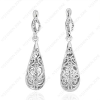 10pair 18k white Gold Plated hollow out Eardrop 18K GP Women' Earring E021W1