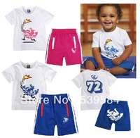 SHT160 Torch Sport Suits Rompers Sets Tees +Pants For Baby Infant Kids Boys&Girls