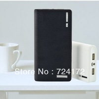 2013 New 20000mAh External Power Bank Backup Dual USB Battery Charger for iPhone for HTC for PSP #42728