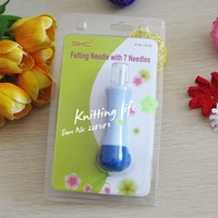 Felting needle with 7 needles diy patchwork tools wool felt poke fun needle,knitting tools