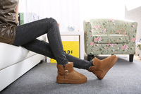 free shipping 2013 new Full vulcanized nubuck leather snow boots / cotton sleeve True boots / buskin