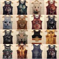 2013 New style Free shipping men t shirt mens o-neck Fashion vest 3d cotton t shirt ,3D printed t-shirts for man 19model