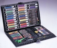 Gift box 86 piece set paint brush crayon watercolor pen school supplies set