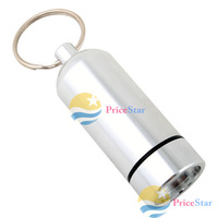 [Super Deals] Aluminum Pill Box Case Bottle Holder Container Keychain wholesale