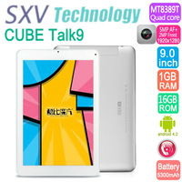 9 Inch Tablet PC Cube Talk9 9 U39GT_3G 3G Built in 2G Phone Call MTK8389T Android 4.2 GPS Wifi Dual Camera 5MP RAM 1GB ROM 16GB
