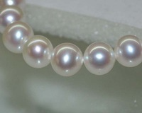 Outstanding Natural RARE White AAA9 10mm Round Freshwater Pearls 10924