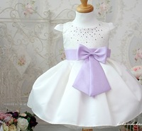 new arrival wholesale baby girls princess dress white elegant kids party dress 4 pieces