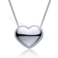 925 Sterling Silver Heart Necklace Double-faced Polishing 3D Three-dimensional Free Shipping Gift Hot Selling Promotion Classic