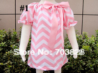 EMS/DHL/TNT Free Shipping Girls chevron dress Baby chevron dresses Kids zigzag dress Princess summer dress children's clothing