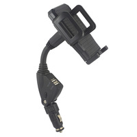 Car Cigarette Lighter AC/DC Adapters Dual USB Car Phone Holder