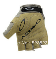 Free Ship Outdoor Sport Male Fingerless Tactical Motorbike Hunting Climbing Cycle Gloves Men Brown Carbon Fiber M L XL Wholesale