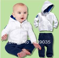 SH348 Retail 2013 Children clothing set ,polo suit for boy,hoodies+pant,100%cotton sport set,2pcs/set baby kid long sleeve suit