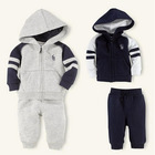 Popular sports suit/2-piece set: long-sleeved cotton hoodie +long pants/Good quality baby clothes(China (Mainland))
