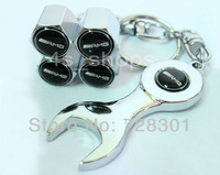 Chrome Set Wheel Tyre/Tire Valve Stems Air Dust Cover Caps For Benz AMG E350 E550 E63 AMG R350 SL550 E320 CLK350 SL500 SLK230