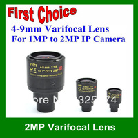 free shipping Dahua Use Hight Quality CCTV Lens/Megapixel Lens/2MP 4-9mm Varifocal Lens for 1MP,2MP IP Cameras