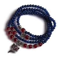 [Free Shipping] Blue agate tibetan silver bracelet