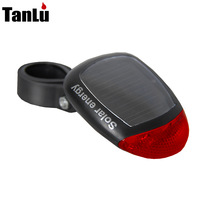 Solar bicycle lamp rear light no battery mountain bike bicycle accessories bicycle