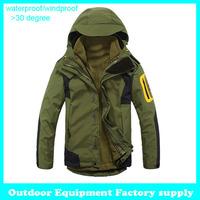 Dropshipping new arrival fashion sports jacket  3 in 1 waterproof windproof breathable brand coats men jacket outerwear winter