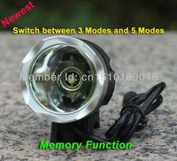 5Sets/Lot 1800lm CREE XM-L XML T6 LED Bike Lamp Bicycle Light HeadLight HeadLamp Flashlight Torch Lantern + 6400mAh battery pack