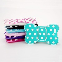 Wholesale*Hot Cute 3D Bow Silicon Soft Cover Case Back Skin For Apple iphone 4 4G 4GS 4S Drop&Free shipping