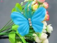 Newest Brand design Hand made women hair accessories Bridal hair clips flower bows with Diamond feather bows