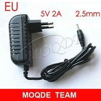Free Shipping 5V 2A EU Wall CHarger Power Adapter 2.5mm for android Tablet PC