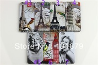 Marilyn Monroe Eiffel Tower London Big Ben Cover Case for iphone 5 5S Free shipping 10pcs lot