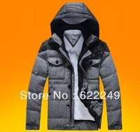 2013 winter 90% White duck down down coat men woolen down jacket short design thickening down fashion coat outerwear top