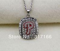 free shipping mix style retail 2008 Philadelphia Phillies world Championship necklace