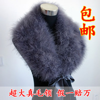 Large ostrich fur collar fur raccoon fur collar fox fur collar false muffler scarf