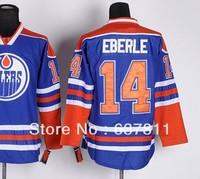 Wholesale Men's Edmonton Hockey Jerseys Team Color Edmonton #14 Eberle Jersey Home Blue Authentic Stitched Jersey for sale