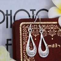Wholesale! 925 Sterling silver earring. high quality silver fashion jewelry. 925 silver fine zircon for women earrings E407