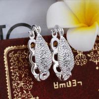 Wholesale! 925 Sterling silver earring. high quality silver fashion jewelry. 925 silver fine zircon for women earrings E388