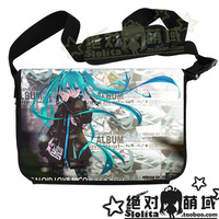 High Quality Miku Messenger Bag Laptop Bag Casual Bag Patent Leather Shoulder Bag Free Shipping