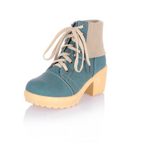 Free shipping / 2013 spring student women shoes , high-heeled lace front root knight boots