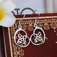 2013 hot popular jewelry Specials wholesale 925 silver jewelry jewelry earrings Korean version heart drop earring E358